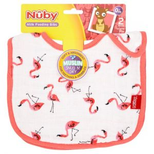 Nuby Muslin Bibs Twinpack