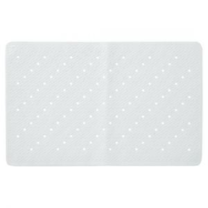 Tesco Rubber Bubble White Bath Mat
