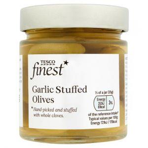 Tesco Finest Garlic Stuffed Olives 210g
