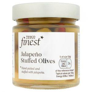 Tesco Finest Jalapeno Stuffed Olives 210g