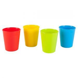 Tesco Plain Polypropylene Beaker 4 Pack