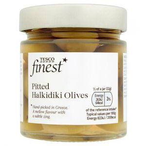 Tesco Finest Pitted Halkidiki Olives 210g