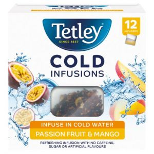 Tetley 12 Cold Infusions Passion Fruit & Mango 27g