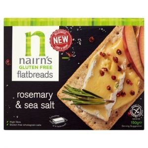 Nairns Gluten Free Rosemary & Sea Salt Flatbreads 150g