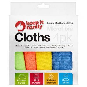 Keep It Handy Microfibre Cloth 4 Pack