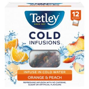 Tetley Cold Infusions Orange and Peach 27g