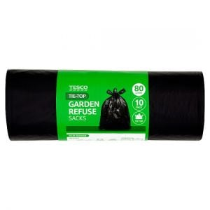 Tesco Tie Top Garden Sacks 10 Pack (80L)
