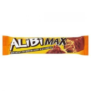 Alibi Max Chocolate Bar With Nuts and Caramel 49g