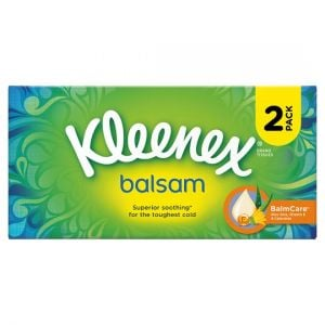 Kleenex Balsam Twin Pack Tissues 64S