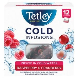 Tetley 12 Cold Infusion Raspberry and Cranberry 27g