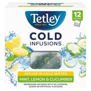 Tetley 12 Cold Infusions Mint Lemon and Cucumber 27g
