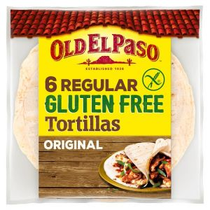 Old El Paso 6 Regular Gluten Free Tortilla 216g
