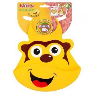 Nuby Roly Poly Silicone Bib