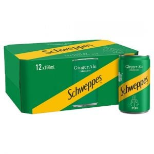 Schweppes Canada Dry Ginger Ale Cans 12X150ml