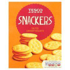 Tesco Snackers Crackers 200g