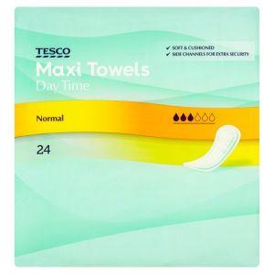 Tesco Maxi Regular Sanitary Towels 24 Pack
