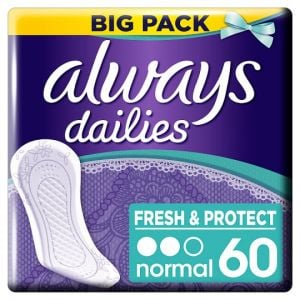 Always Dailies Fresh & Protect Normal Panty Liners 60