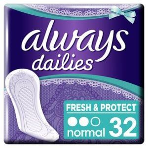Always Dailies Fresh & Protect Normal Panty Liners 32 Pack