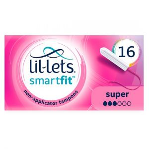 Lil Lets Non Applicator Super Tampons 16 Pack