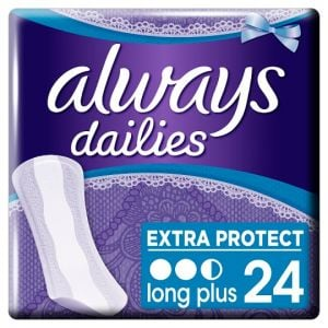 Always Dailies Extra Protect Long Plus Panty Liners 24 Pack