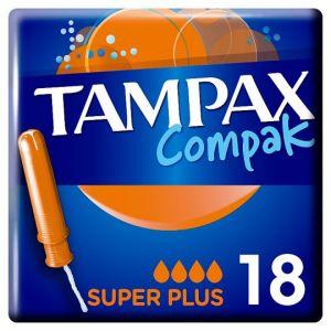 Tampax Compak Super Plus Applicator Tampons 18