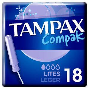 Tampax Compak Lites Applicator Tampons 18