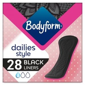 Bodyform Black Normal Panty Liner 28Pk