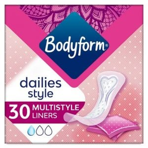 Bodyform Multi Style Individually Wrapped and Folded Panty Liners 30 Pack
