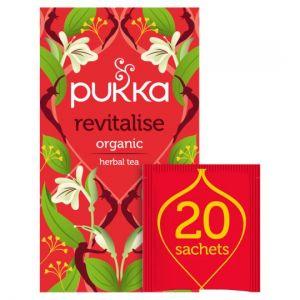 Pukka Herbs Organic Revitalise Herbal Tea 20S 40g