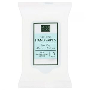 Grab and Go Hygiene Hand Wipes 15 Pack