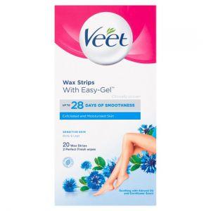 Veet Ready To Use Wax Strips Sensitive 20'S
