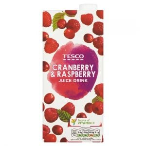 Tesco Cranberry and Raspberry Juice Drink 1 Litre