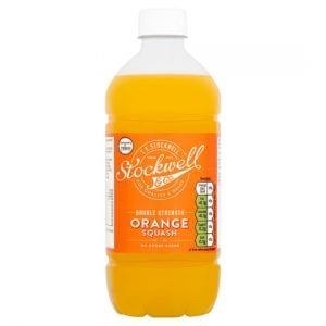 Stockwell & Co No Added Sugar Double Strength Orange Squash 750ml