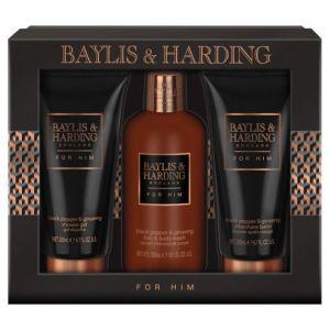 Baylis and Harding Men's Black Pepper 3Pc