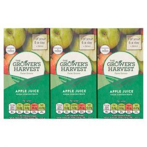 Growers Harvest Apple Juice 3X200ml