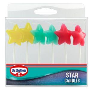 Dr Oetker Star Candles 6 Pack