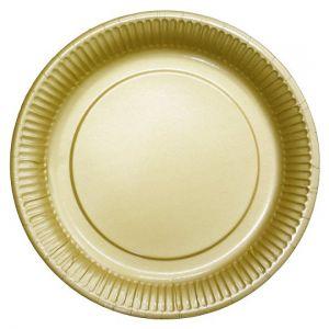 Tesco Plain Gold Paper Plate 8 Pack