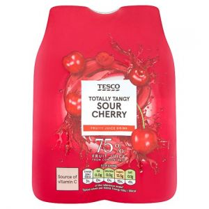 Tesco Totally Tangy Sour Cherry Fruity Juice Drink 4 x 330ml