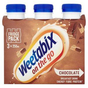 Weetabix On The Go Chocolate Drink 3 X 250ml