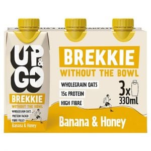 Up and Go Banana and Honey Brekkie Drink 3X330ml