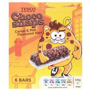 Tesco Choco Snap 6 Bars 120g