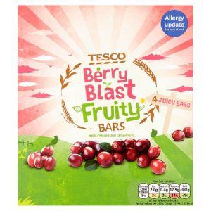 Tesco Berry Blast Fruity Bars 4 Pack 112g