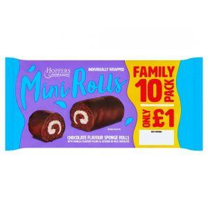 Hoppers Chocolate Mini Rolls 10 Pack