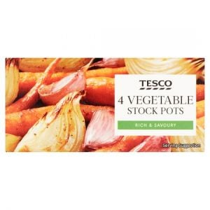 Tesco Vegetable Stockpot 4 Pack 112g