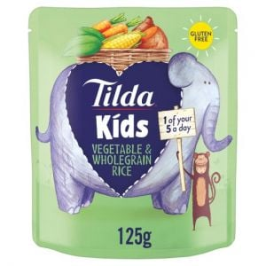 Tilda Kids Vegetable & Wholegrain Rice 125g