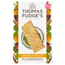 Thomas Fudge's Cheddar &Shallot Flatbread 140g