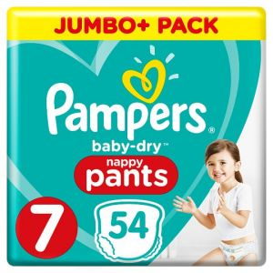 Pampers Baby Dry Pants Size 7 54 Jumbo Nappies