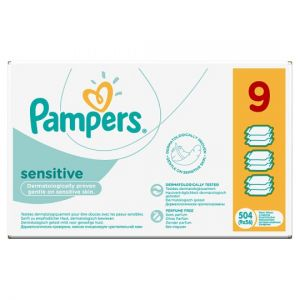 Pampers Sensitive Baby Wipes 504 Wipes