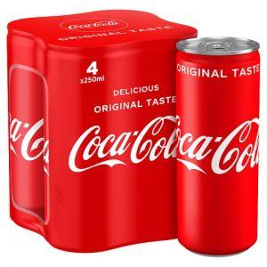 Coca Cola Coke Classic 4 x 250ml
