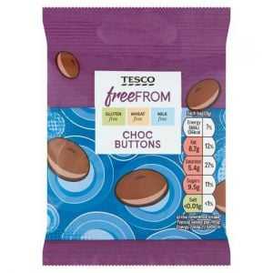 Tesco Free From Chocolate Buttons 25g